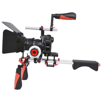 YELANGU Colorful DSLR Filming Equipment D202-R Video Camera Shoulder Rig Kit