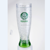 double wall freezer Pilsner ice mug with liquid,frosty glass