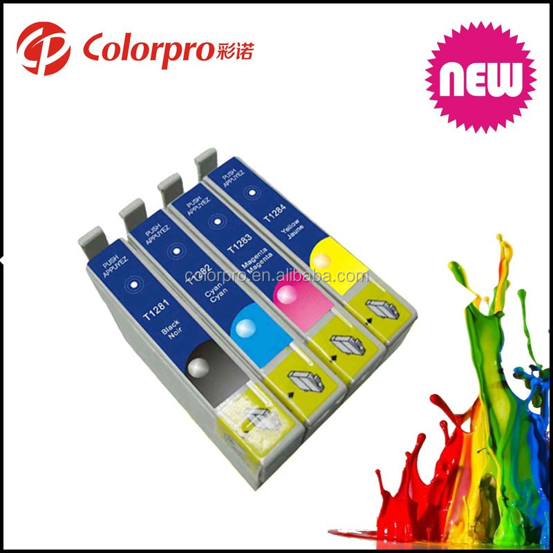 free samples ink cartridge for Epson T1281 1282 1283 1284 compatible for epson Stylus S22/SX125/SX130/SX230