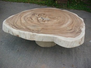 Round Acacia Slab Coffee Table Buy Large Round Coffee Tables