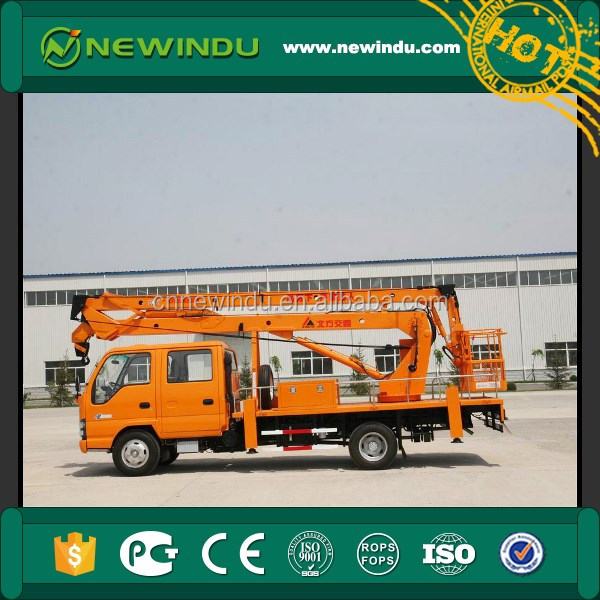 22m Articulated Aerial Work Platforms truck HYL5090JGKA cable clamp with basket