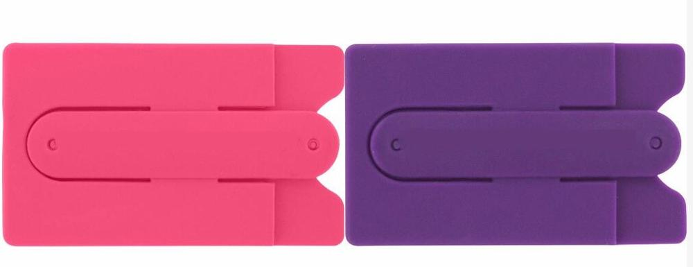 Silicone smart card wallet 3m sticky, wallet with cell phone pocket, cell phone stand with custom logo