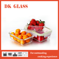 Heat Resistant Glass Food Keeper/Saver/Storage/Container