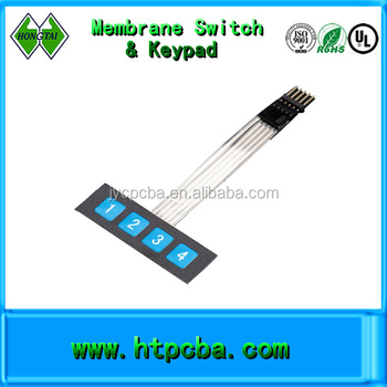 Four Button Membrane Switch Pcb,Keypad With Flexible Cable - Buy Membrane  Switch,Custom Prototype Membrane Keypads,Pcb Membrane Keyboard Switch