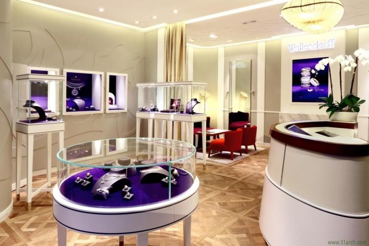 Customized Luxury Jewelry Display Counter Led Light Used Jewelry ...