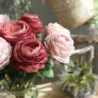 Christmas wedding souvenirs artificial flower for wedding table accessories