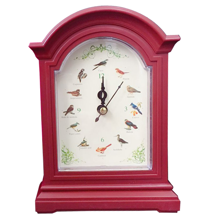 singing bird clock, small size wall clock with bird sound