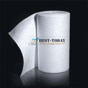 100% polypropylene 40*50cm white high quality oil absorbent roll