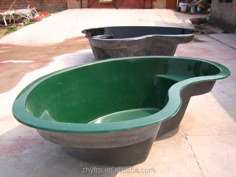 Stone shape outdoor fish fiberglass pond buy fiberglass for Outdoor fish ponds for sale