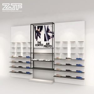 Nike sneakers display case custom sport shoe store wood shoes display racks with shop