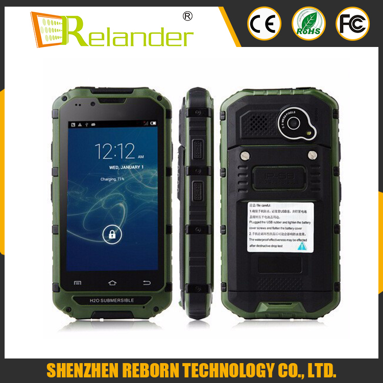 MTK6572 Android 4.2 3G WiFi 4.0 Inch Capacitive Screen Dustproof Shockproof cell phone