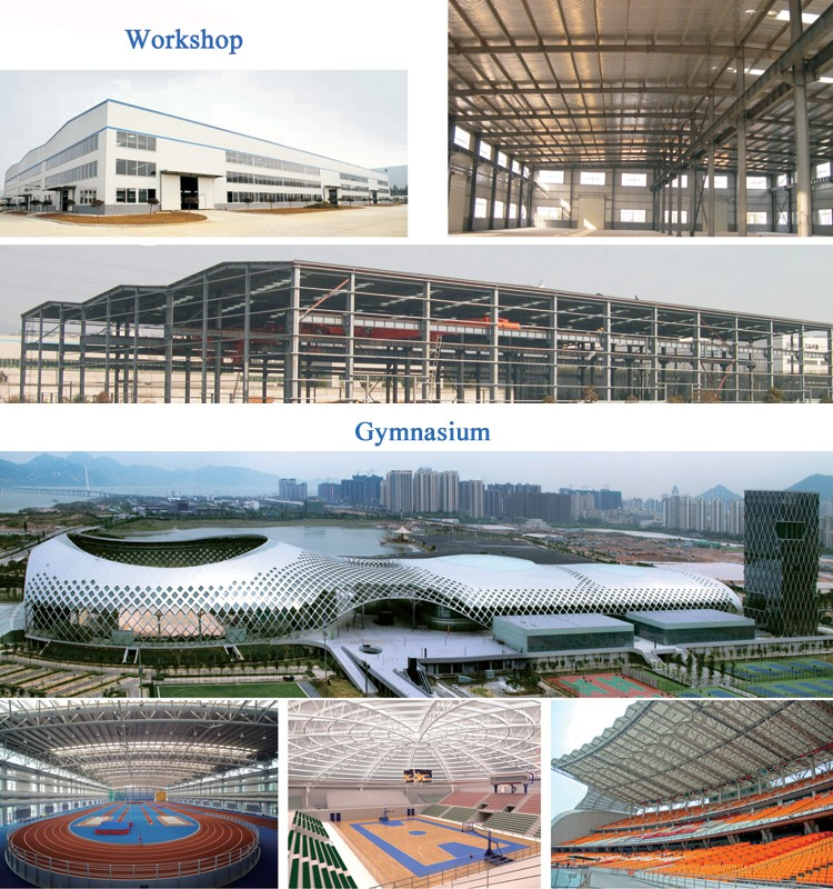 China prefabricated custom material steel structure building factory