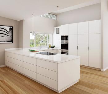 2019 Mdf Moderne Küche Schrank Flache Pack Hause Aluminium Schrank