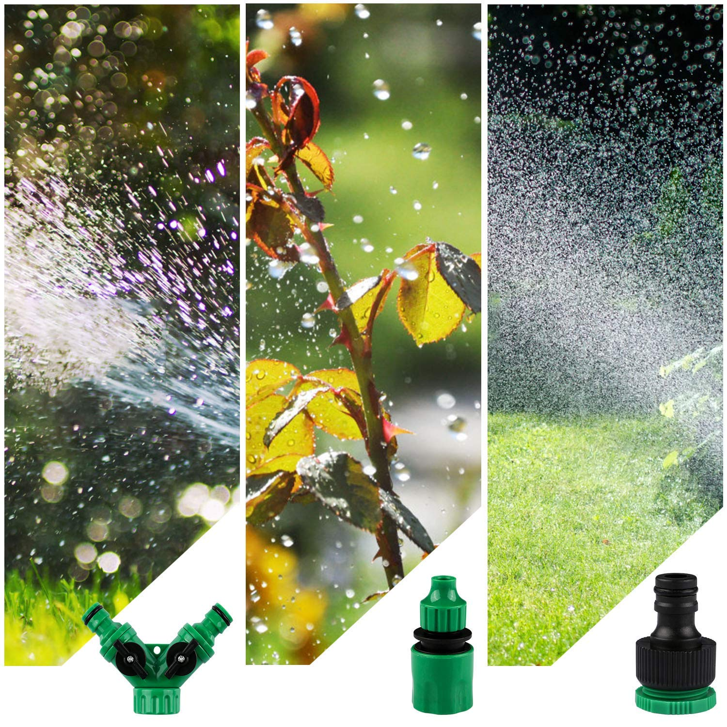 100ft /30M Irrigation System Kits For Outdoor Garden Greenhouse Automatic Watering Equipment
