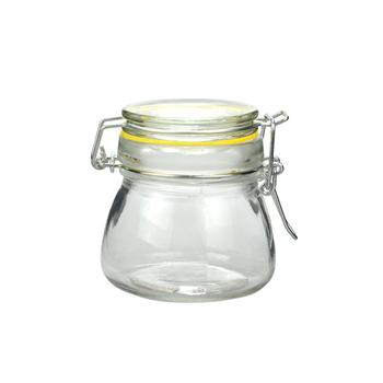 500ml Glass Storage Jar With Glass Or Metal Lock Lid - Buy Glass Storage  Jar,Glass Jars With Airtight Lid,500ml Glass Jars Product on Alibaba com