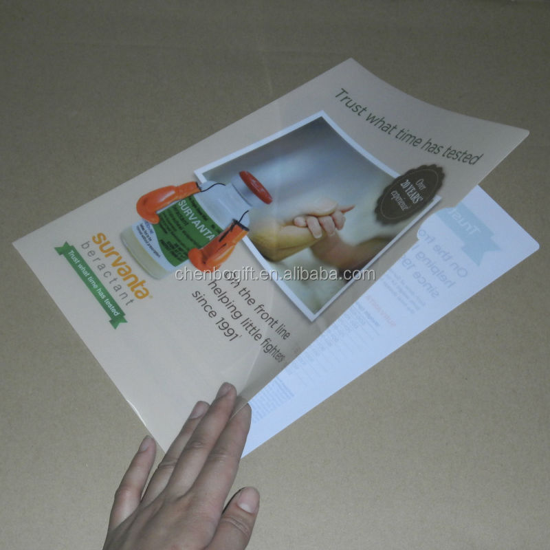 A4 Size L Shaped Folder / Full Color Printing Clear Pp Plastic ...