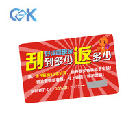 Wholesale pvc plastic scratch card printing for the lottery ticket card with best price.