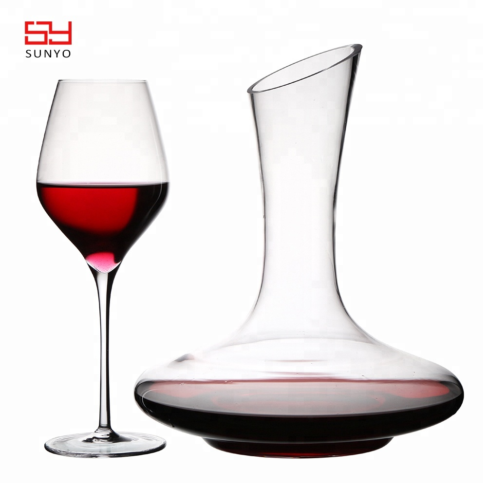 Amazon hotsale 1800ml CRYSTAL WINE <strong>GLASS</strong> &amp; WINE DECANTER SET