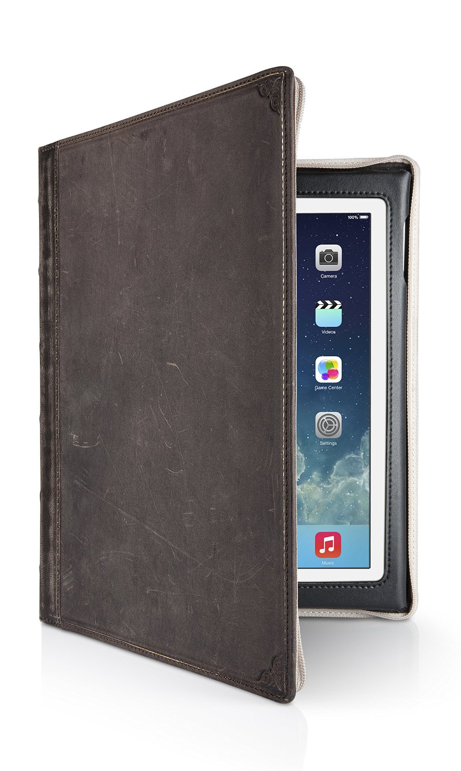 Twelve South BookBook for iPad, brown   Vintage leather book case for iPad (2nd, 3rd, and 4th gen.)