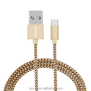best price wholesale nylon braided micro usb cable charging phone cable