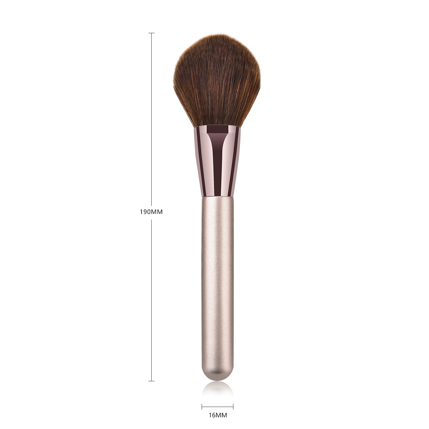 FLD 1Pcs Private Label Wood handle Powder blush brush Face powder  brush High quality makeup brush wholesale