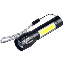 <span class=keywords><strong>Mini</strong></span> USB recargable linterna Zoom <span class=keywords><strong>luz</strong></span> 3W XPE COB LED linterna