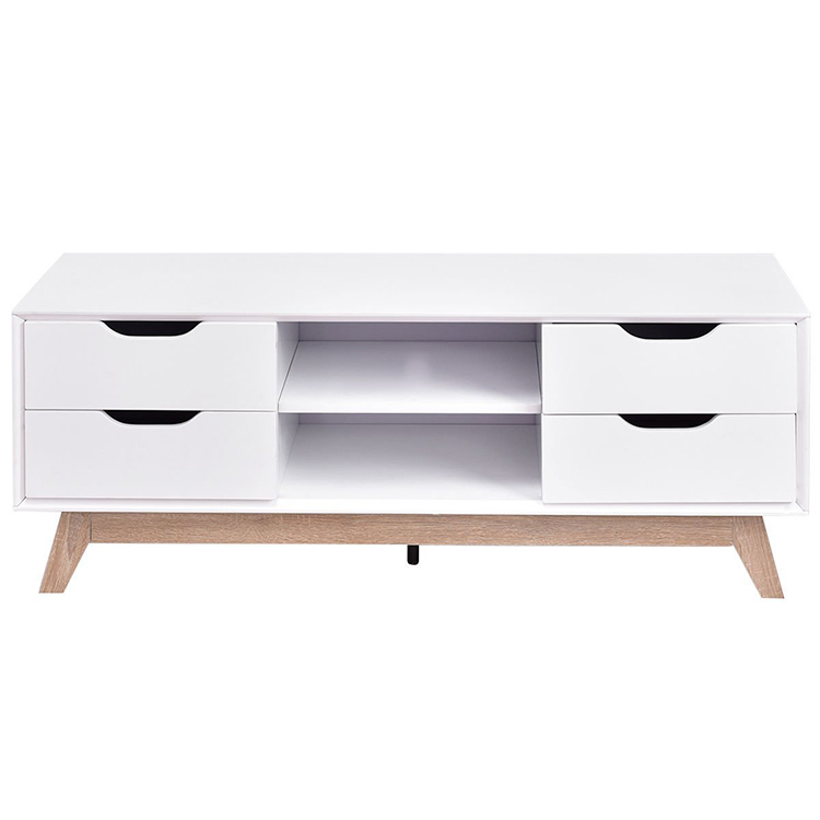 Wholesale eco-friendly modern wooden white fashion Nordic TV cabinet