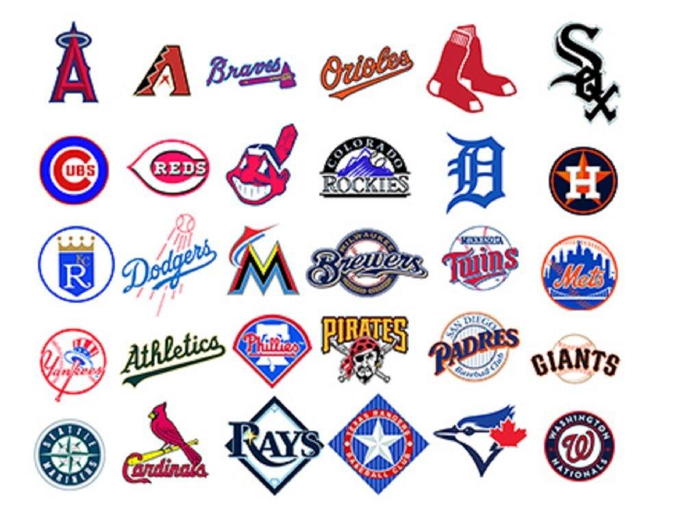03241f07212 Buy MLB Baseball teams logo 30 wall decals stickers Good size  6