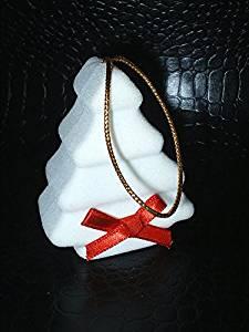 new novelty christmas ornament tree unique fancy white velvet engagement ring gift box holiday proposal - Christmas Ornament Ring Box