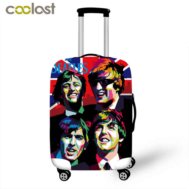 "The Beatles Luggage cover for Travel Accessories Cute Spandex Suitcase protectors Pretty Luggage Dust Cover for 18""-28"""