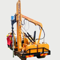For guardrail post Used Hydraulic Hammer ramming pile driver machine
