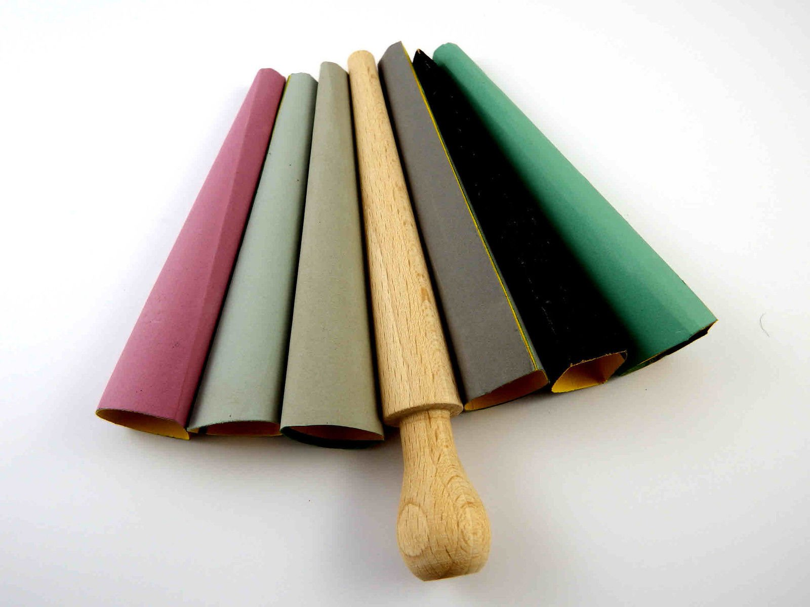 Emery cone sticks various grit rough fine jewellers hobby craft sand paper tool
