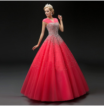 New Fashion Evening Dresses Formal Prom Dress Partai Pernikahan Ball Gown Buy Western Gowns Partai Pernikahan Dresses Ball Gown Ombre Quinceanera Bola Gowns Product On Alibaba Com