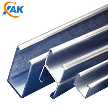 XAK2019 Wholesale Double C Channel Galvanized Unistut C Type Channel Standard Back to Back Slotted /Solid