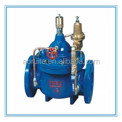 Hydraulic Ductile Iron Flange Water Flow Control Valve