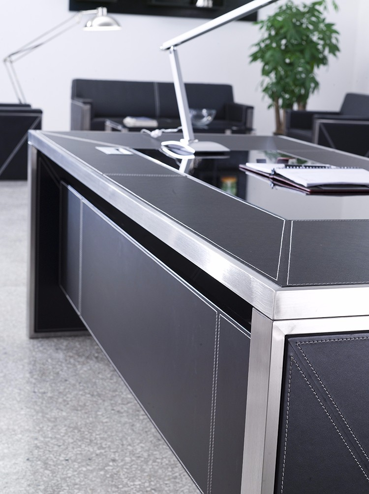 Executive office table with glass top for Best office table