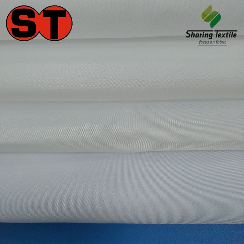 Factory Polyester Low-Price Inexpensive Cheapness White MIlky Color Taffeta Peach Skin Taslon Shape Memory Be Ready Stock Fabric