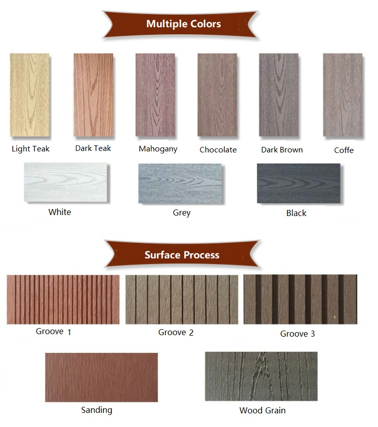 Anti - corrosion wpc fence post wood plastic composite fence posts