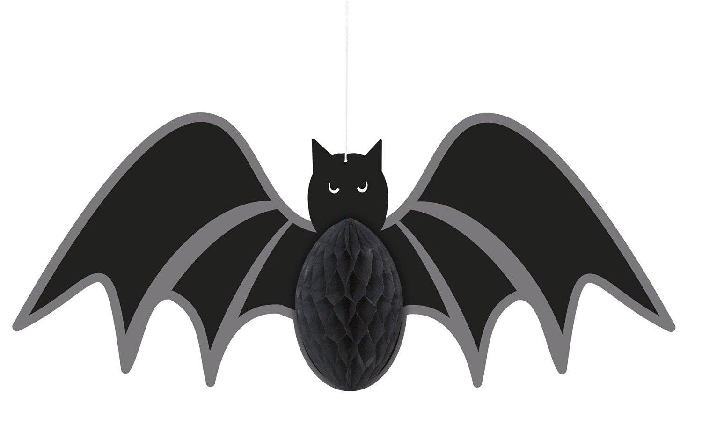 "14"" Hanging Honeycomb Bat Halloween Decoration"