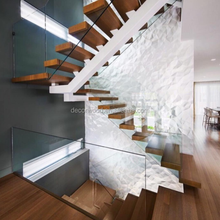 Modern Wooden Thick Stair Tread Wooden Design