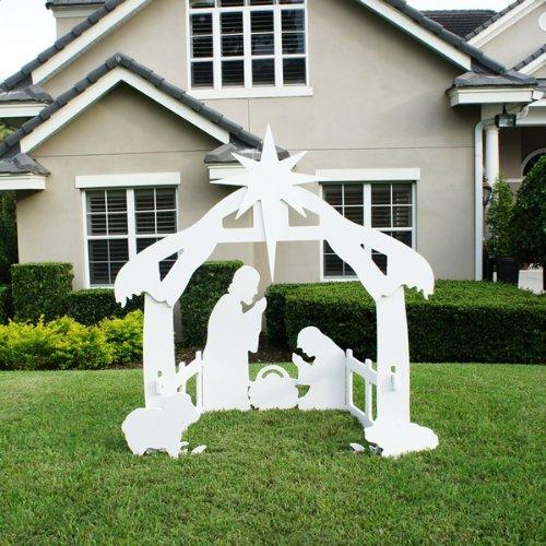 get quotations teak isle christmas outdoor nativity set yard scene large - Teak Isle Christmas Decorations
