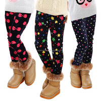 Girl Kids leggings Winter Pants Christmas Thick Leggings For Children