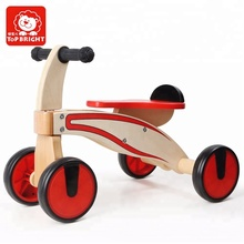 NEW Red Wooden balance bike Classic Wooden Cars for Kids Best Gift Toy