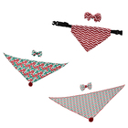 CHRISTMAS TIME!!! Custom triangular polyester dog christmas bandana with tie