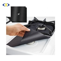 12 Pcs Black Gas Stove Burner Covers + 2 BONUS Silicone Brush Stove Top Liner