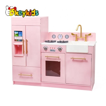 New hottest miniature large wooden toy kitchen sets for girls W10C370C