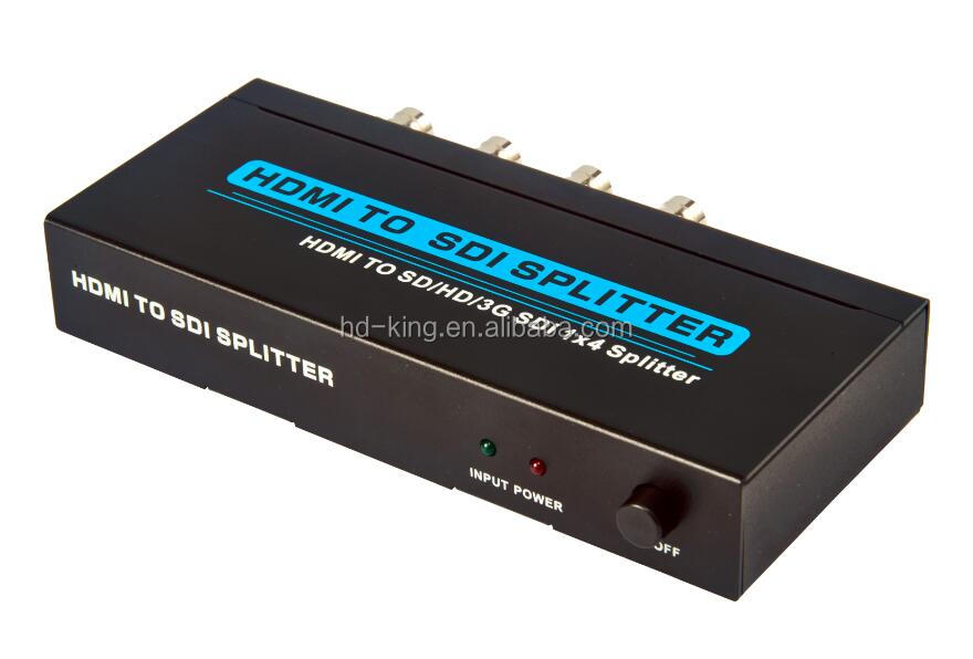 4 ports HDMI to SDI Converter Splitter 1x4 HD SDI / 3G SDI /SD SDI distribution Splitter