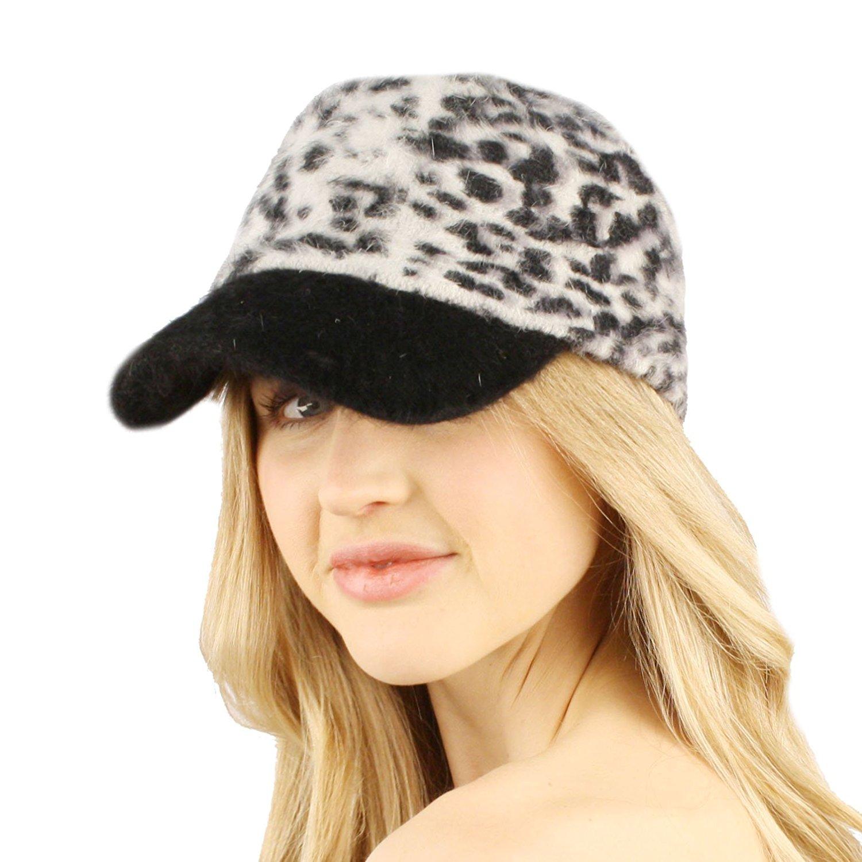615b4a1d93d Get Quotations · SK Hat shop Winter Fall Fuzzy Furry Angora Cadet Castro  Visor Ball Cap Hat
