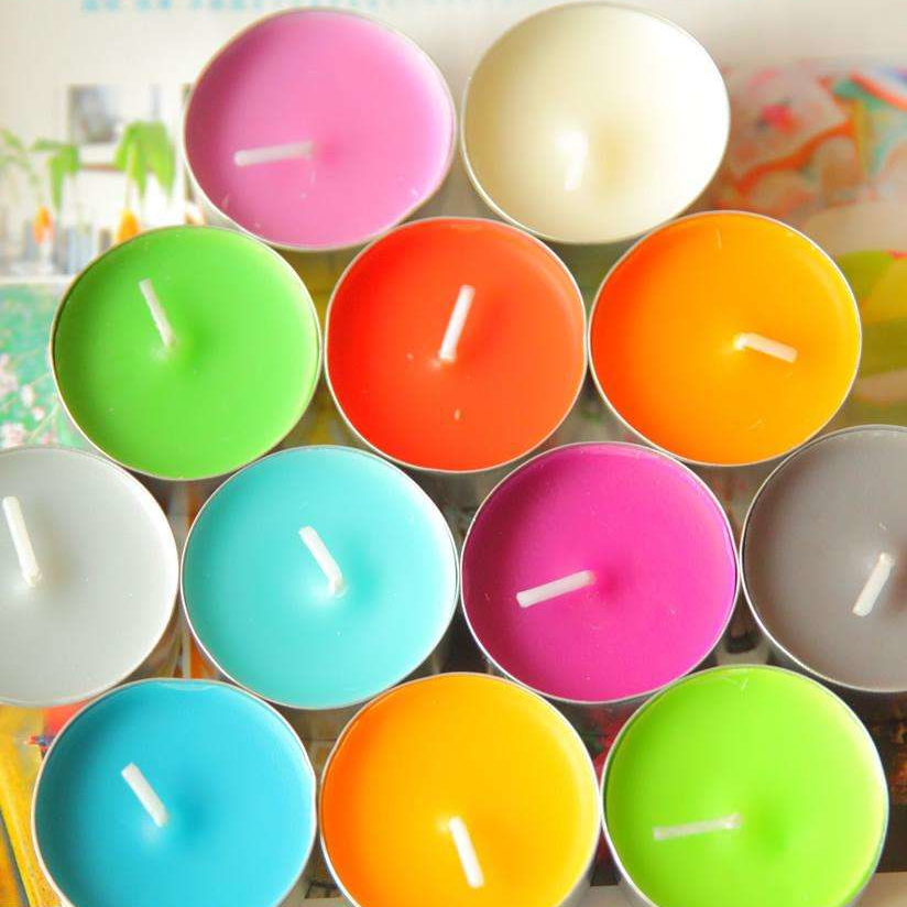 Customized Colored Scented Home Fragrances Top Selling Tealight Candles