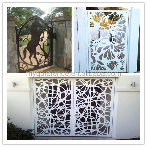 Cheap Single Sliding Modern Laser Cut Gate Design